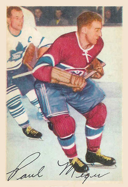 1953 Parkhurst Paul Meger #21 Hockey Card