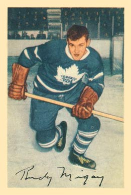 1953 Parkhurst Rudy Migay #17 Hockey Card