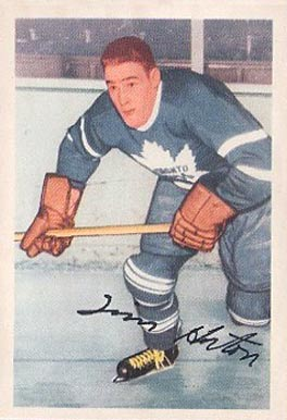 1953 Parkhurst Tim Horton #13 Hockey Card