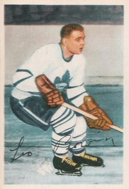 1953 Parkhurst Leo Boivin #6 Hockey Card