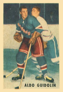 1953 Parkhurst Aldo Guidolin #66 Hockey Card