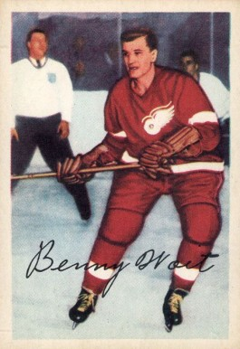 1953 Parkhurst Beny Woit #45 Hockey Card