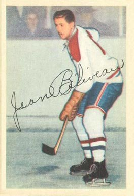 1953 Parkhurst Jean Beliveau #27 Hockey Card