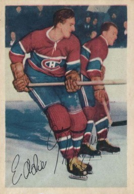 1953 Parkhurst Eddie Mazur #20 Hockey Card