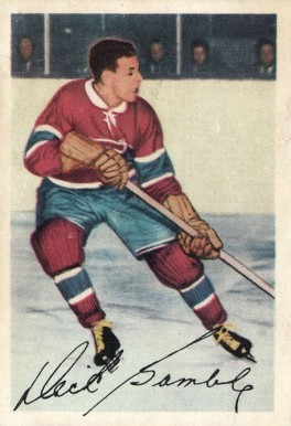 1953 Parkhurst Dick Gamble #18 Hockey Card