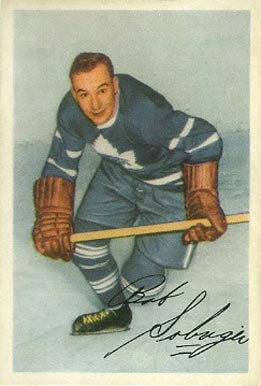 1953 Parkhurst Bob Solinger #16 Hockey Card