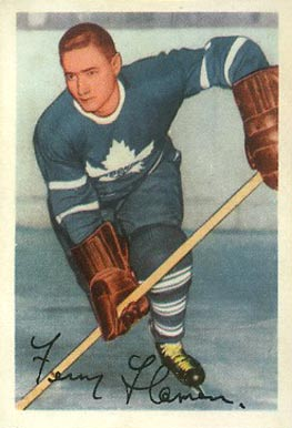 1953 Parkhurst Fern Flaman #14 Hockey Card