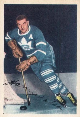 1953 Parkhurst Harry Watson #12 Hockey Card