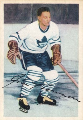 1953 Parkhurst Jim Thomas #8 Hockey Card