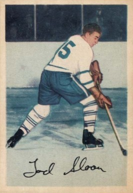 1953 Parkhurst Tod Sloan #5 Hockey Card