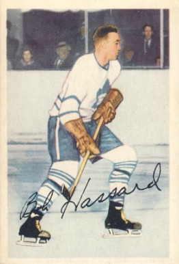1953 Parkhurst Bob Hassard #4 Hockey Card