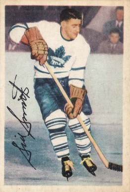 1953 Parkhurst Sid Smith #2 Hockey Card