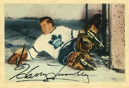1953 Parkhurst Harry Lumley #1 Hockey Card