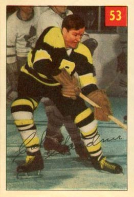 1954 Parkhurst Cal Gardner #53 Hockey Card