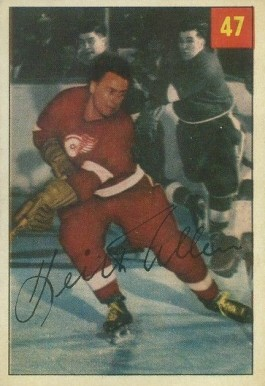 1954 Parkhurst Keith Allen #47 Hockey Card
