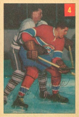 1954 Parkhurst Eddie Mazur #4 Hockey Card