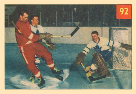 1954 Parkhurst   #92 Hockey Card