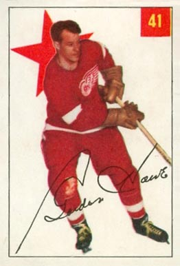1954 Parkhurst Gordie Howe #41 Hockey Card