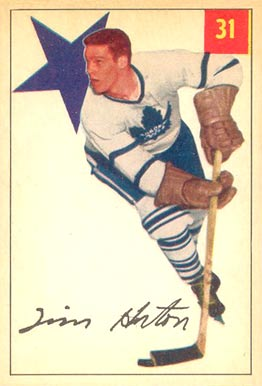 1954 Parkhurst Tim Horton #31 Hockey Card