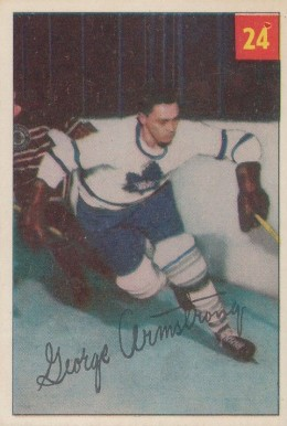1954 Parkhurst George Armstrong #24 Hockey Card