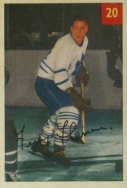 1954 Parkhurst Fern Flaman #20 Hockey Card