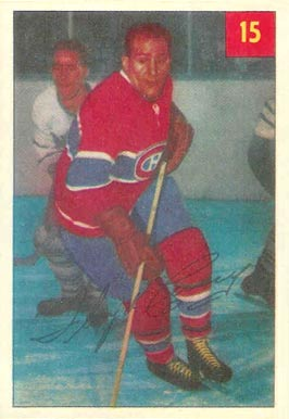 1954 Parkhurst Floyd Curry #15 Hockey Card
