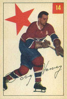 1954 Parkhurst Doug Harvey #14 Hockey Card
