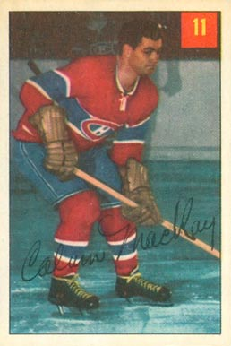 1954 Parkhurst Calum Mckay #11 Hockey Card