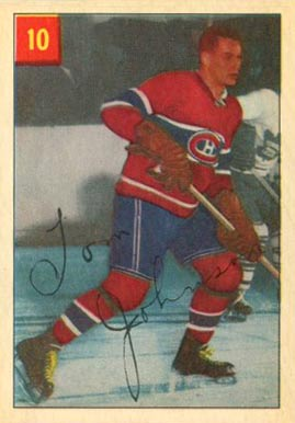 1954 Parkhurst Tom Johnson #10 Hockey Card