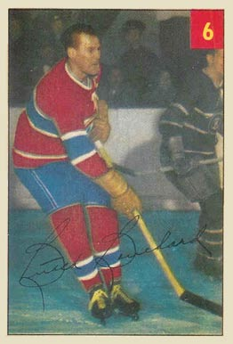 1954 Parkhurst Butch Bouchard #6 Hockey Card