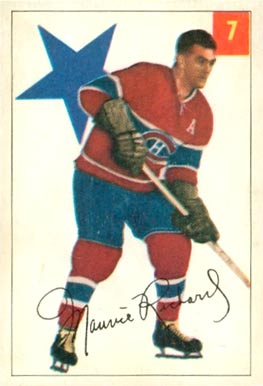1954 Parkhurst Maurice Richard #7 Hockey Card