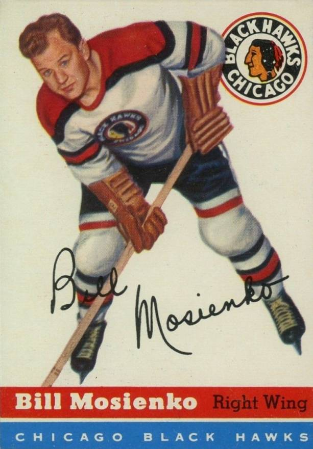 1954 Topps Bill Mosienko #54 Hockey Card