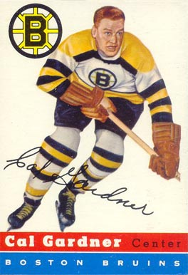 1954 Topps Cal Gardner #47 Hockey Card