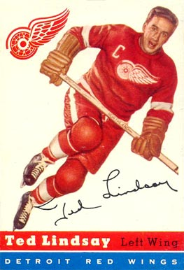 1954 Topps Ted Lindsay #51 Hockey Card