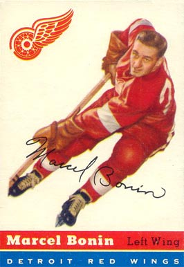 1954 Topps Marcel Bonin #59 Hockey Card