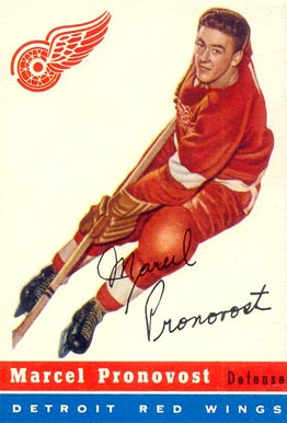 1954 Topps Marcel Pronovost #27 Hockey Card