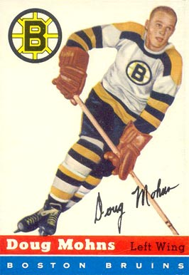 1954 Topps Doug Mohns #18 Hockey Card
