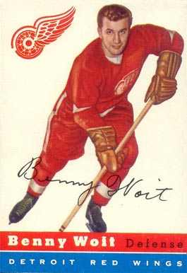 1954 Topps Benny Woit #9 Hockey Card