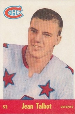 1955 Parkhurst Jean-guy Talbot #53 Hockey Card