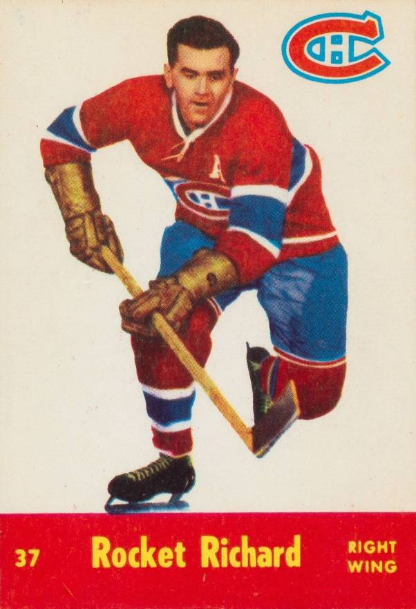 1955 Parkhurst Rocket Richard #37 Hockey Card