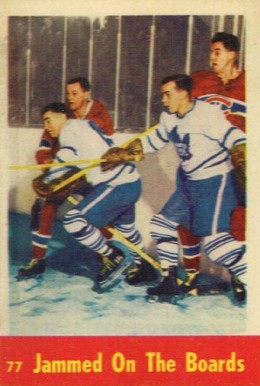 1955 Parkhurst Jammed On The Boards #77 Hockey Card