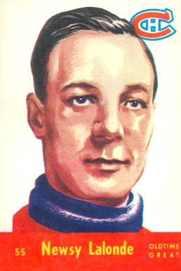 1955 Parkhurst Newsy Lalonde #55 Hockey Card