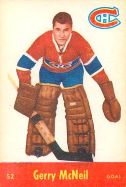 1955 Parkhurst Gerry McNiel #52 Hockey Card
