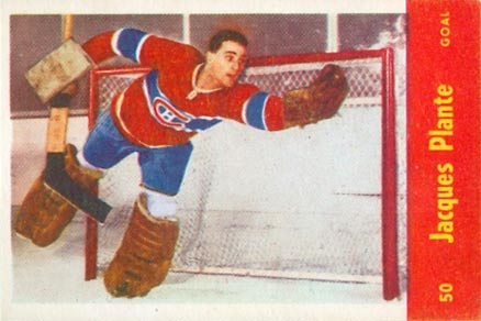 1955 Parkhurst Jacques Plante #50 Hockey Card