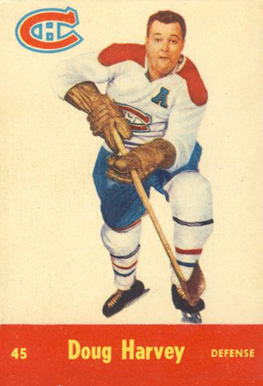 1955 Parkhurst Doug Harvey #45 Hockey Card