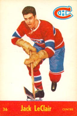 1955 Parkhurst Jackie LeClair #36 Hockey Card