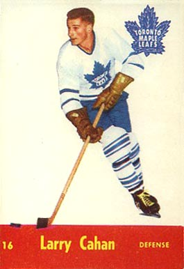1955 Parkhurst Larry Cahan #16 Hockey Card