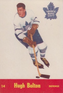 1955 Parkhurst Hugh Bolton #14 Hockey Card