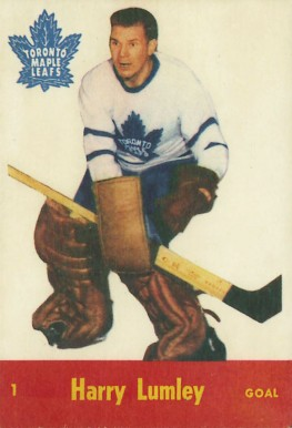 1955 Parkhurst Harry Lumley #1 Hockey Card