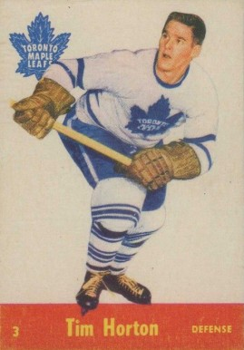 1955 Parkhurst Tim Horton #3 Hockey Card